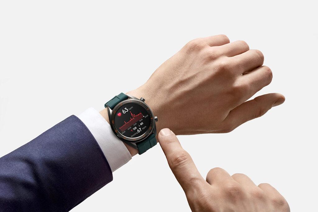 Monitoramento de batimento cardíaco do Huawei Watch GT
