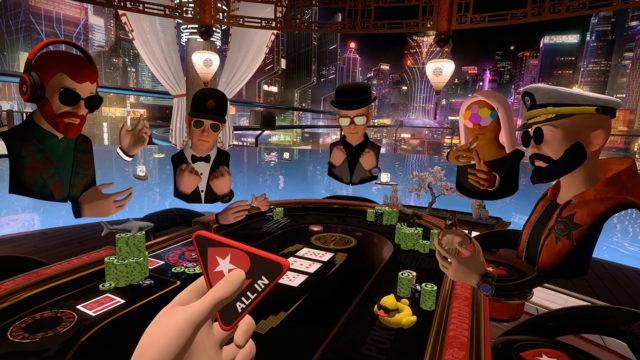 Exemplo da realidade virtual no poker