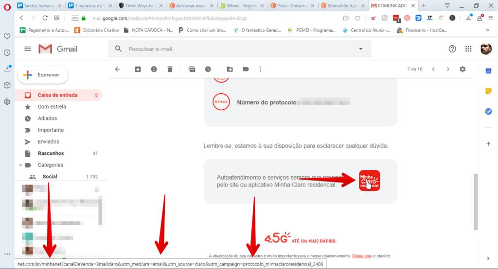 verificar a identidade de um e-mail link