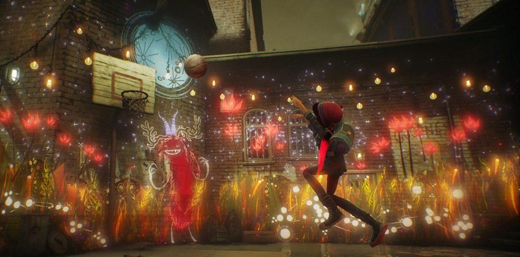 Em Concrete Genie, Ash pode dar vida a suas pinturas com um pincel mágico