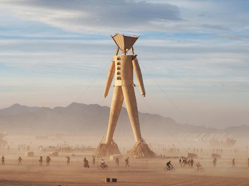 Burning Man, o boneco que dá nome ao festival
