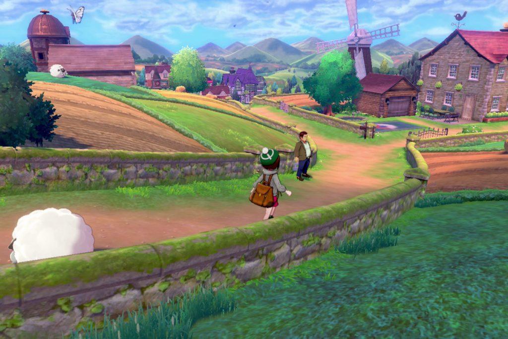 Após a pequena introdução, o jogador já fica livre para explorar a região de Galar da forma que desejar