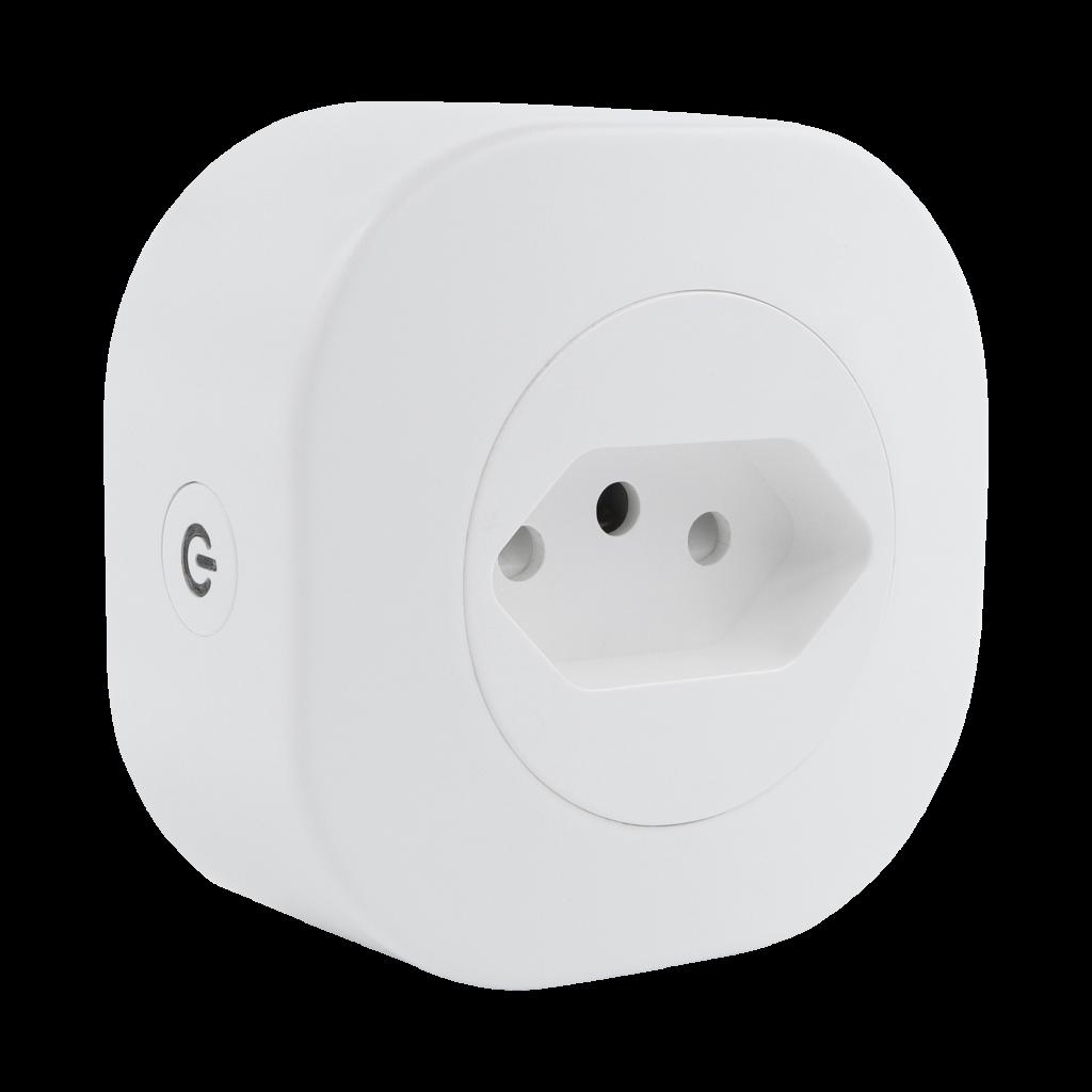 Adaptador de tomadas inteligentes suportam corrente 10 A