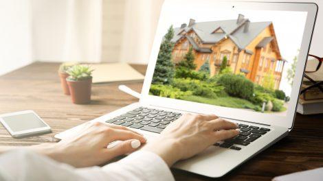 Imagem mostrando compra de casa online (Imagem/Reprodução: Deposit Photos)