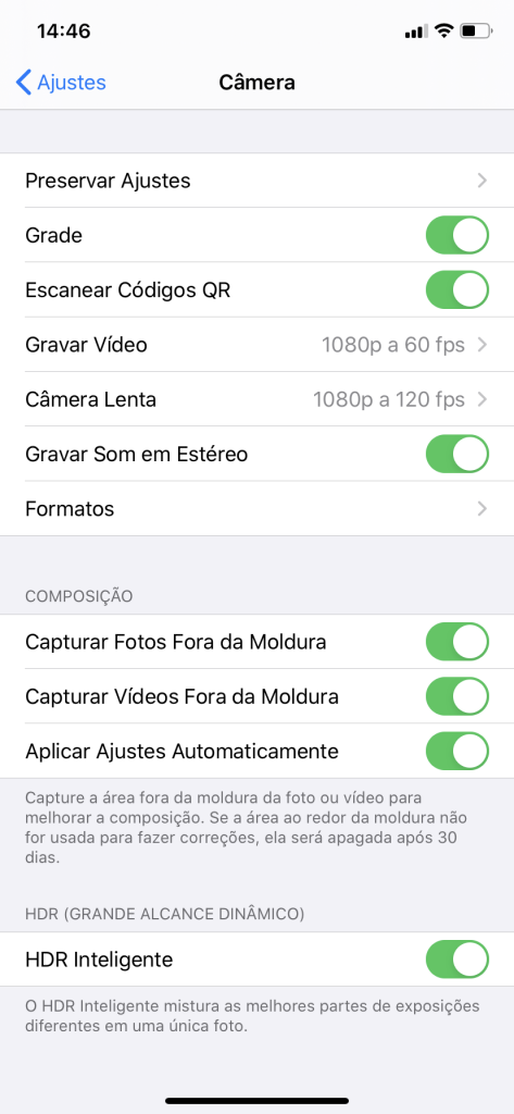 Dicas do iPhone 11: Habilite ou desabilite captura da área fora da moldura