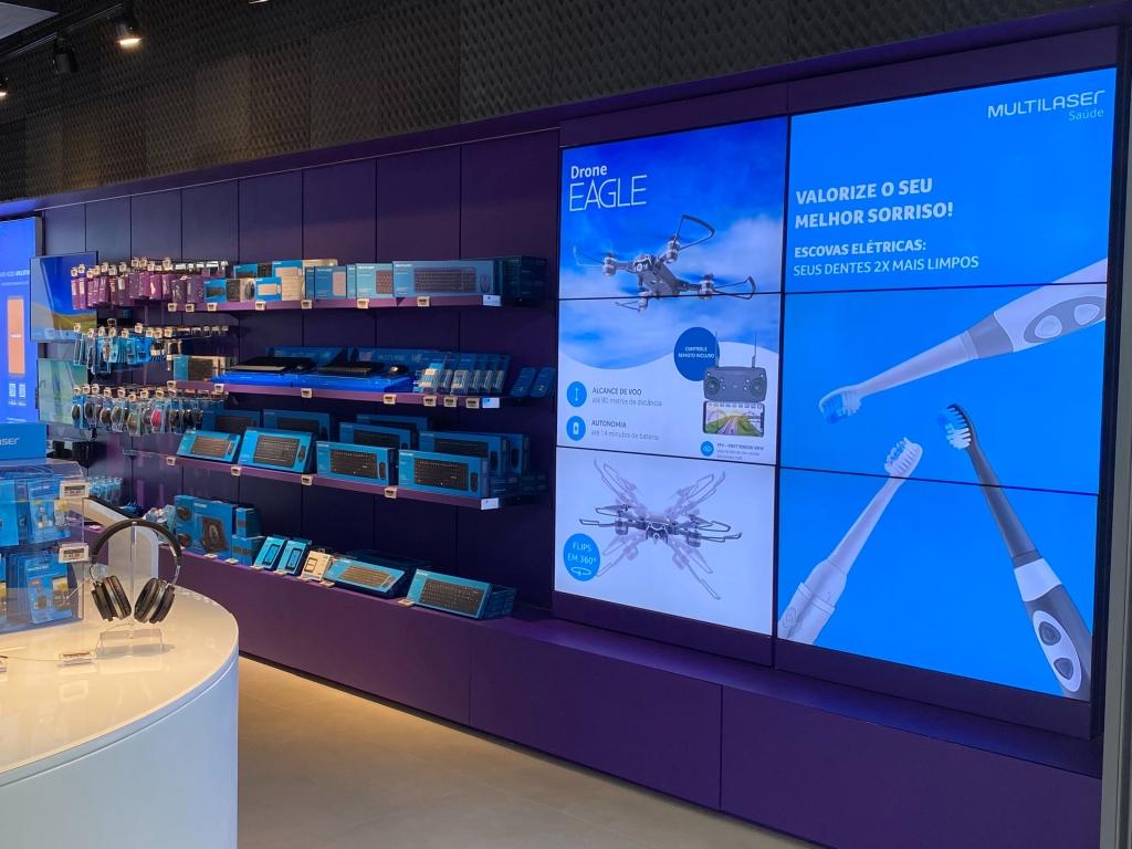 A Loja da Multilaser dará destaque ao seu grande portfólio de eletrônicos e produtos de informática.