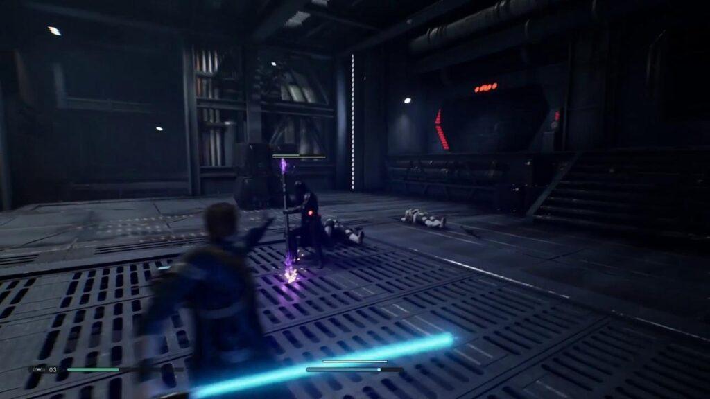 Desde o início da aventura você tem acesso a diferentes poderes da força para combater seus inimigos