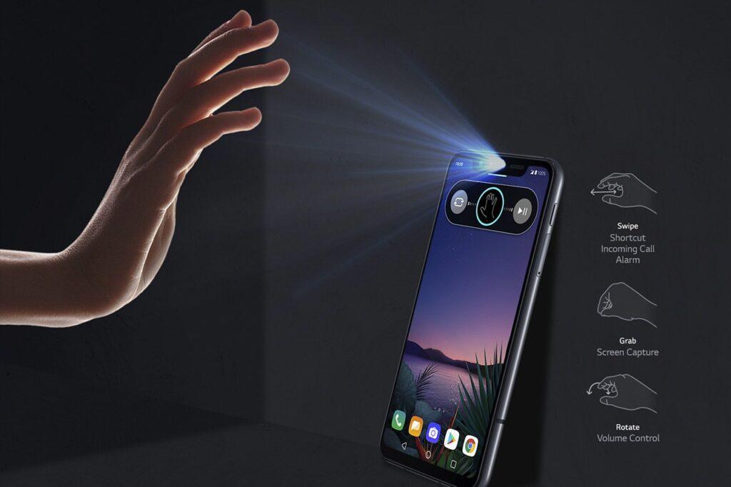 Air Motion permite realizar algumas funções com o aparelho sem tocar nele