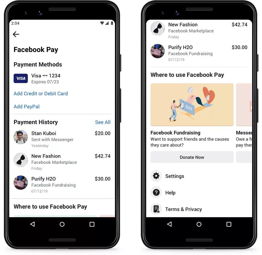 Com o Facebook Pay é possível fazer compras, transferir dinheiro e até fazer doações