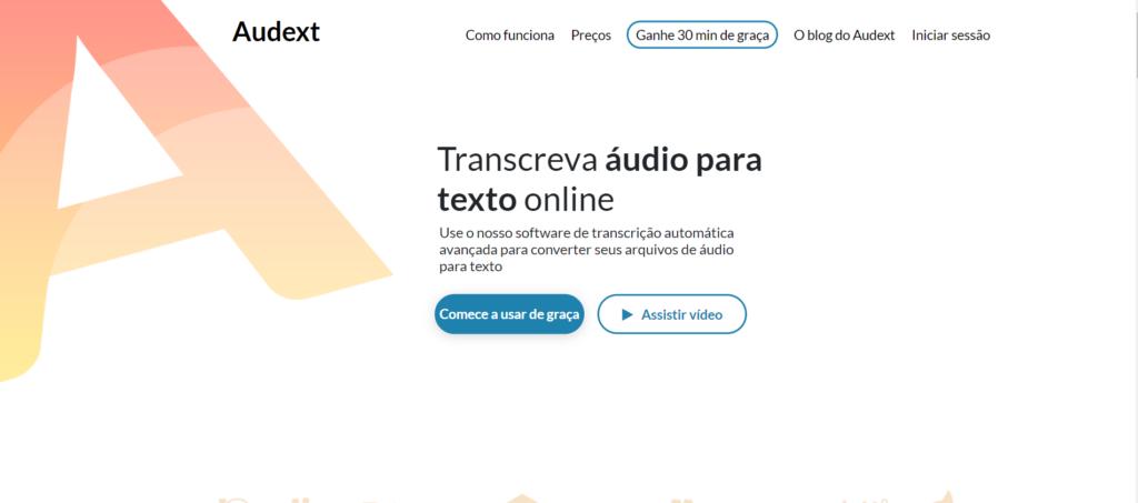 Audext, conversor de áudio em texto