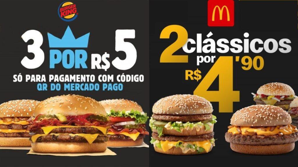 Promoção nos fast foods