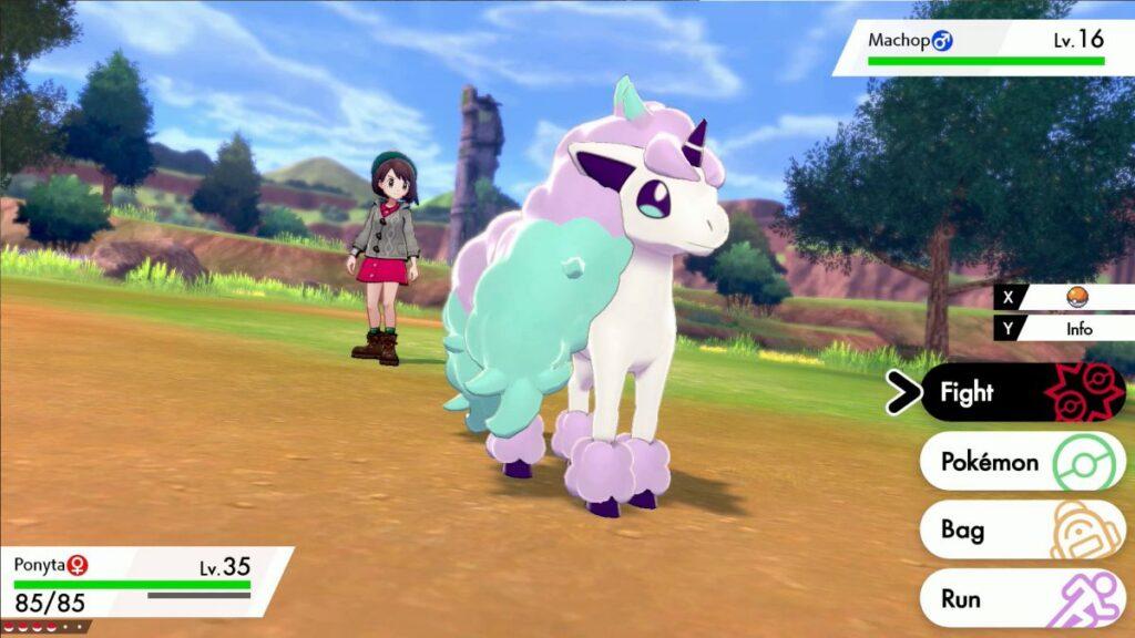 A Ponyta de Galar é um Pokémon exclusivo da versão Shield