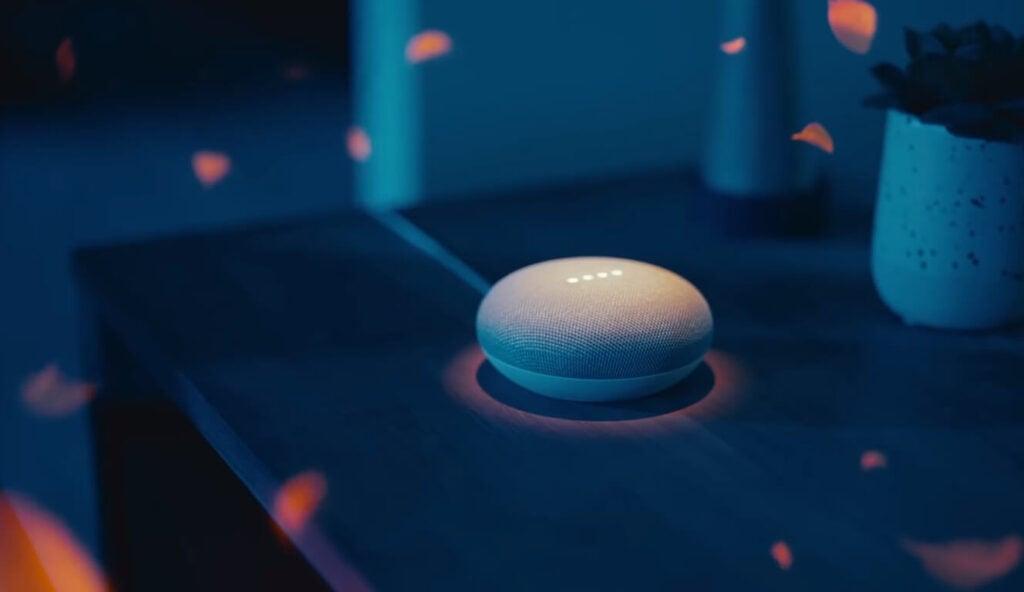 speaker google home e conexão com as lâmpadas philips hue