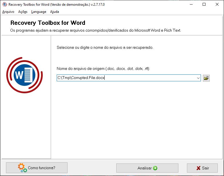 Recovery toolbox for word é a solução definitiva pra recuperar seu arquivo