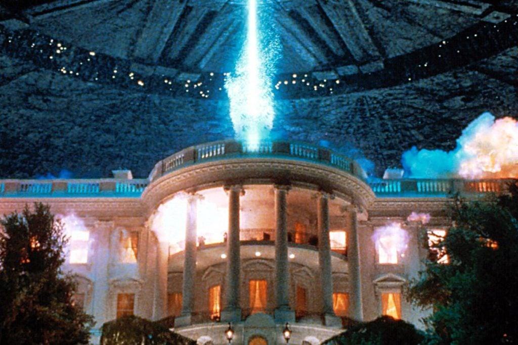 """Nem a Casa Branca escapa da destruição em """"Independence Day"""""""