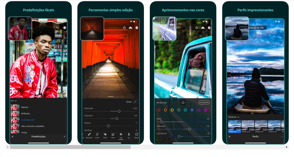 Lightrrom é aplicativo favorito de edição de fotos dos influencers