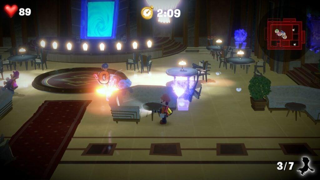O modo ScareScraper de Luigi's Mansion 3.