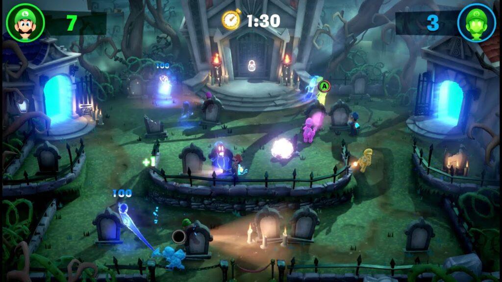 Os modos multiplayer de Luigi's Mansion 3 são pura bagunça, o que garante a diversão.