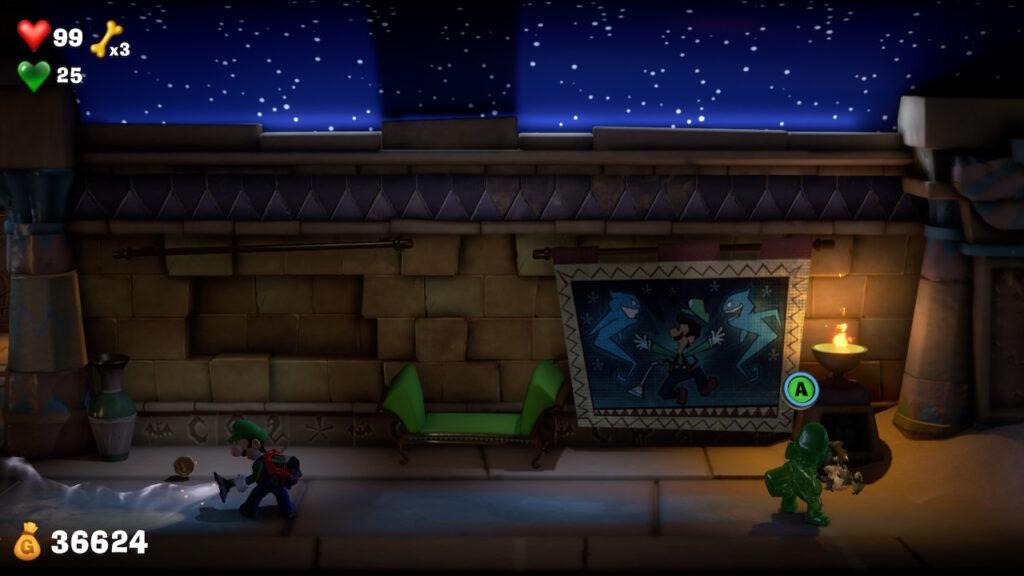 O típico bom humor da Nintendo presente em Luigi's Mansion 3.
