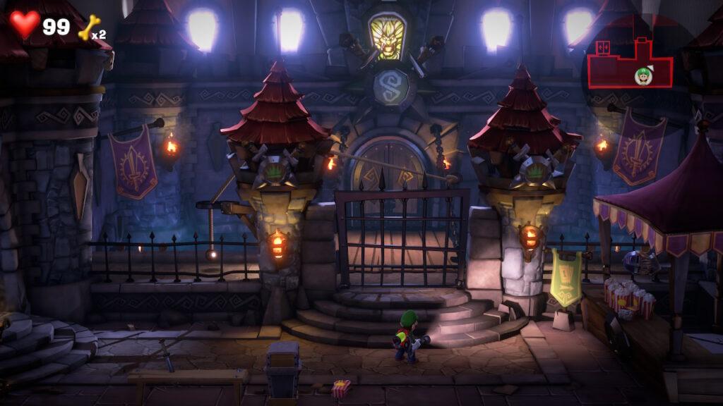 Um castelo dentro de um hotel? É possível em Luigi's Mansion 3.