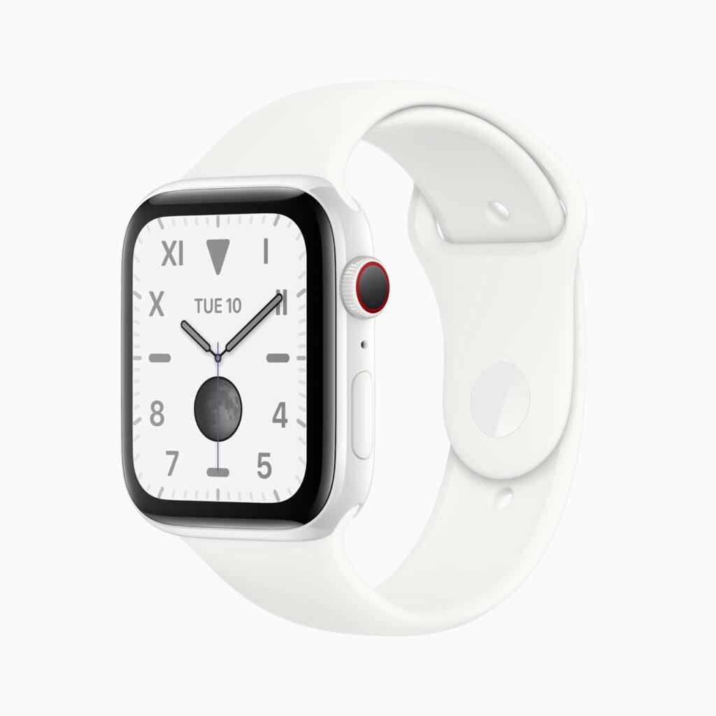 Apple Watch Series 5 Edition com a caixa em cerâmica branca.