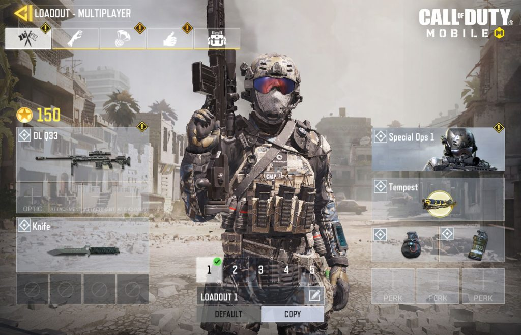 Call of Duty Mobile - equipamento