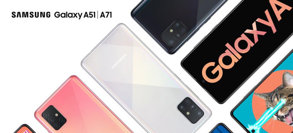 Samsung Galaxy A51 e A71 foram revelados em um evento da empresa sul-coreana no Vietnã (Foto: Samsung)