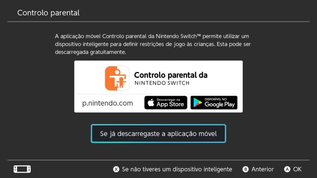 A configuração de restrições pelo app do Controle de Pais do Nintendo Switch é simples e rápida de ser feita