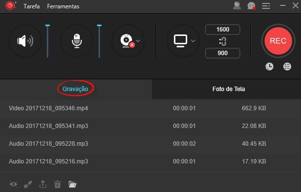 O design do programa é acessível para quem quer gravar tela do PC ou do smartphone