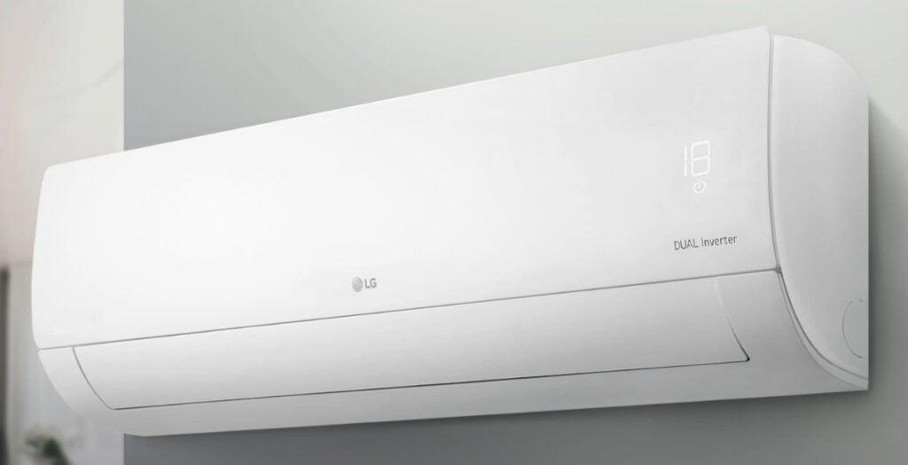 o LG DUAL Inverter atinge a temperatura desejada até 40% mais rápido e a mantém estável