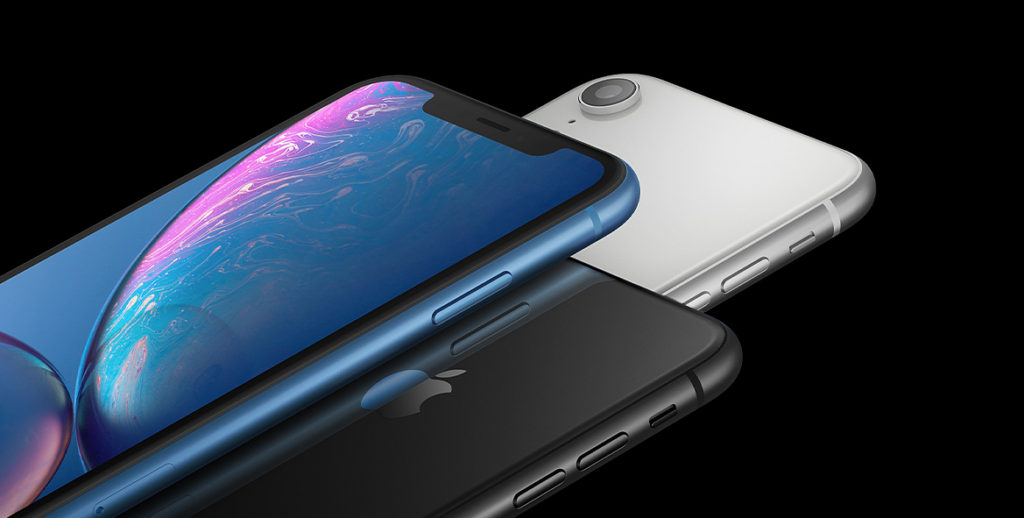 tres iphone xr alinhados