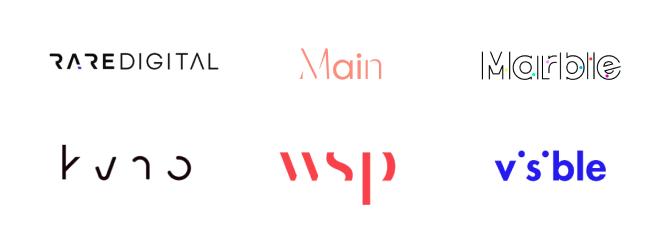 Essa tendência faz com que um logo pareça visualmente incompleto, mas fácil de ler