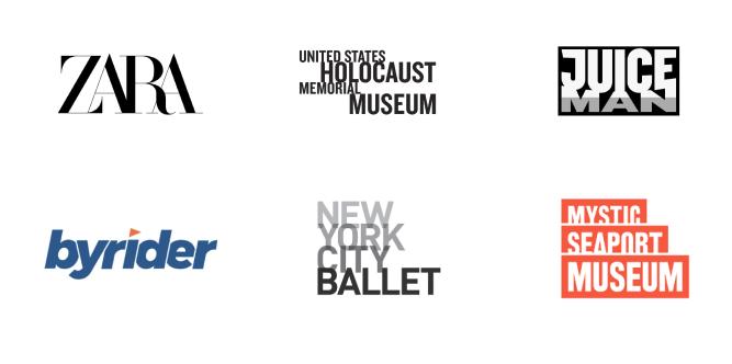 Os designers tentaram usar todo o espaço de um logo para transmitir suas ideias e mensagens criativas