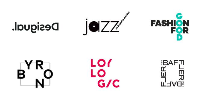Organizando os elementos do logo de maneira assimétrica, você poderá criar um resultado ousado e excêntrico