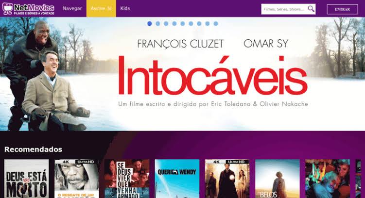 NetMovies é um serviço de streaming que permite o aluguel de BluRays