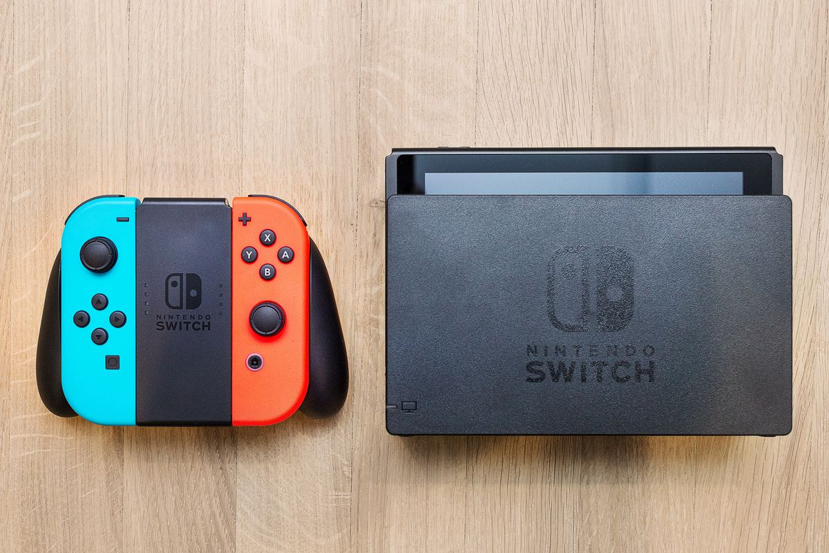 Nintendo switch with dock. 0