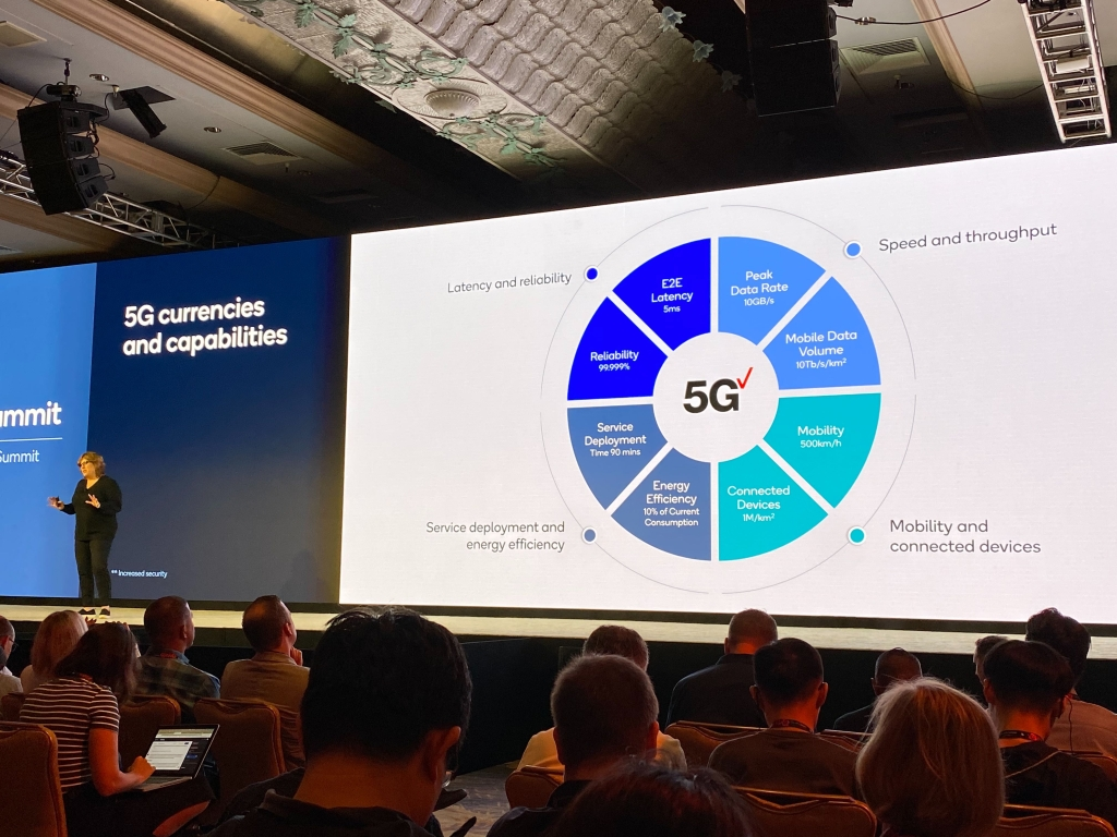 A executiva da Verizon Nicki Palmer mostrou as vantagens do 5G