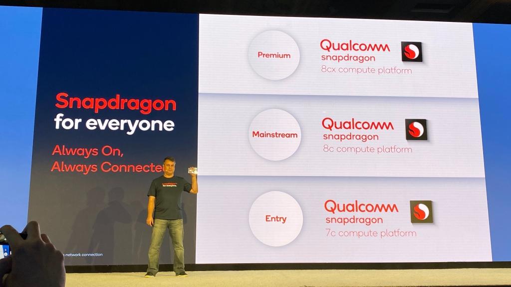 Os processadores Snapdragon 8cx, Snapdragon 8c e Snapdragon 7c