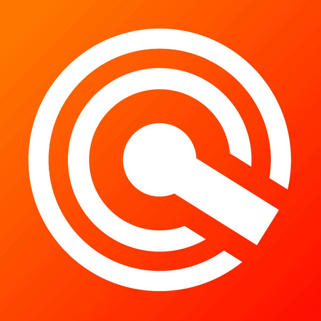 Ícone em alta resolução, branco com fundo laranja