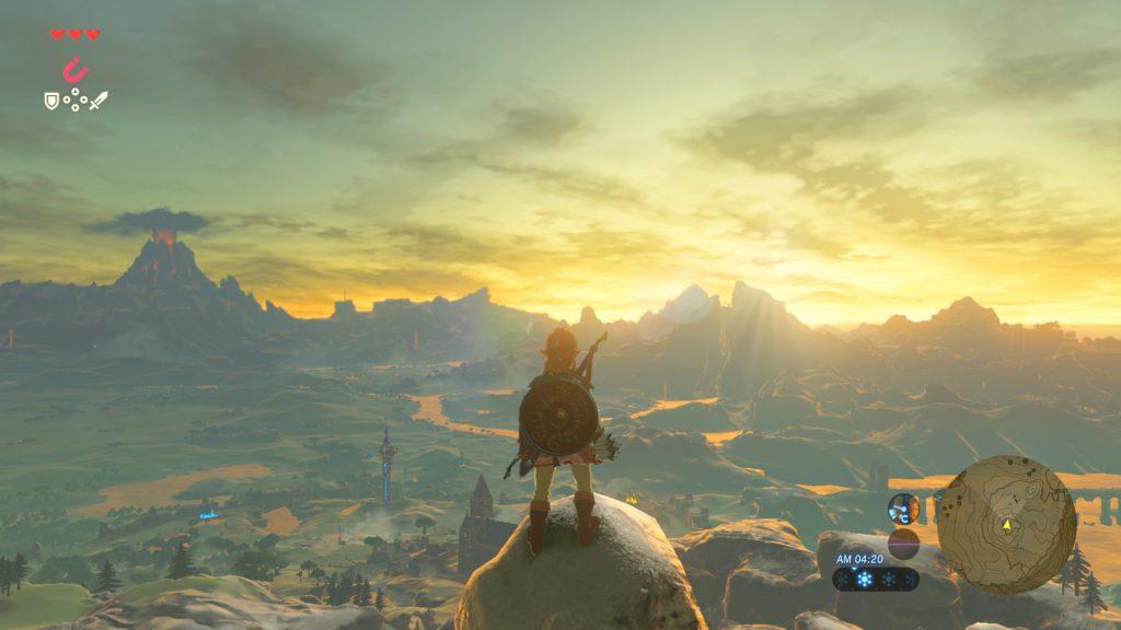 The Legend of Zelda, um vasto e belo mundo para explorar