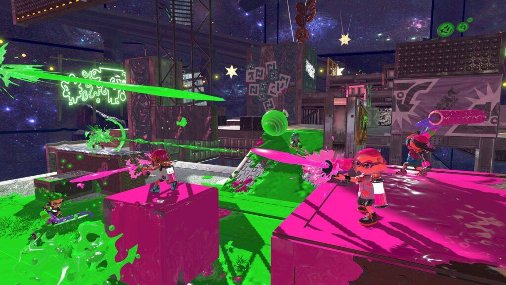 A ideia de disputar a cor da área do cenário é genial.