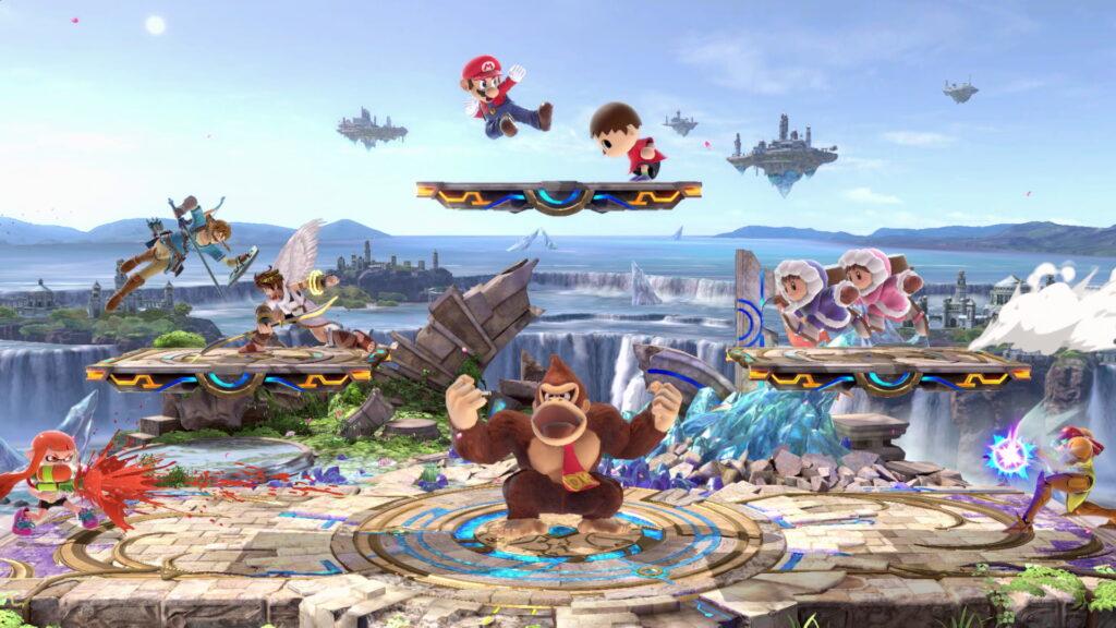Personagens icônicos dos videogames caem na porrada em multiplayer para até oito jogadores.
