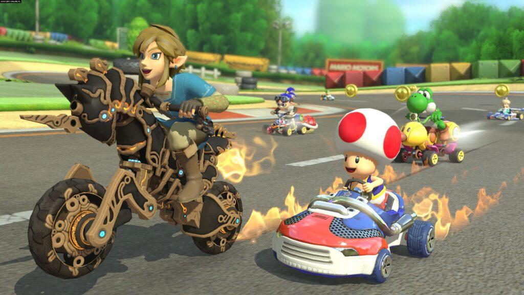 Mario Kart 8 Deluxe, o melhor da franquia, presente no Nintendo Switch.