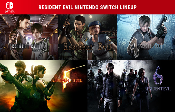 Além destes títulos de Resident Evil, o Nintendo Switch ainda conta com os dois jogos da subsérie Revelations.