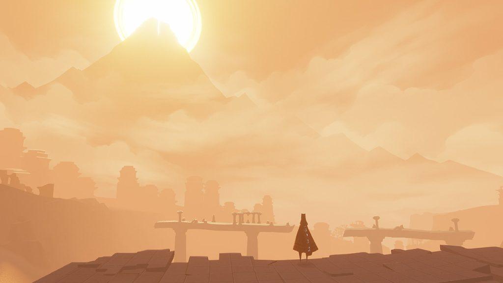 Journey é um jogo relativamente simples e pequeno, mas consegue envolver o jogador de modo único (Foto: Reprodução)