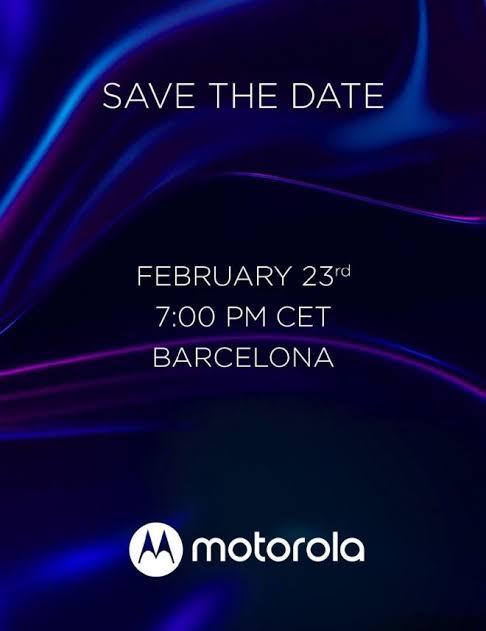 A motorola já começou a enviar convites para sua apresentação na mwc 2020.