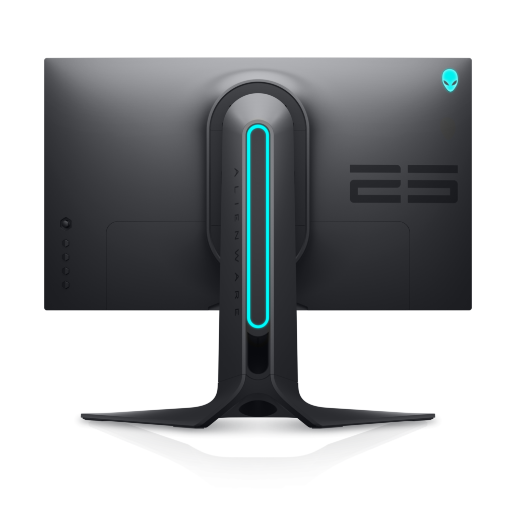 Parte traseira do Alienware 25 Gaming Monitor