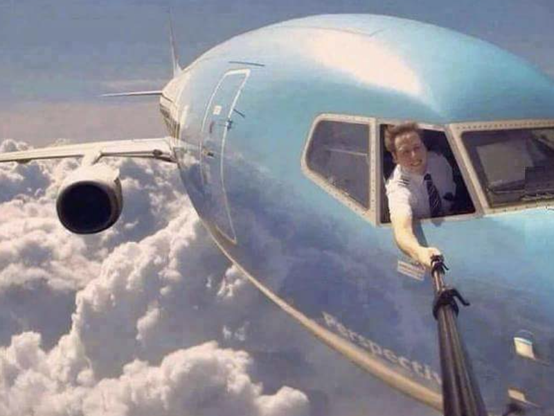 As selfies mais perigosas do mundo - avião