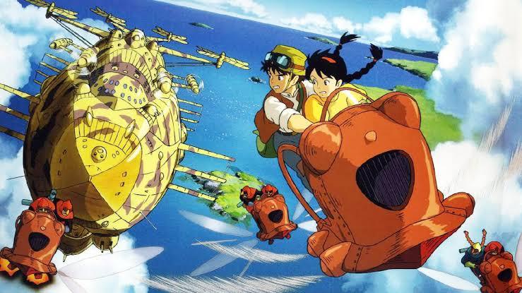 Castelo do céu foi o primeiro filme oficialmente lançado pelo studio ghibli em 1986 (foto: reprodução)