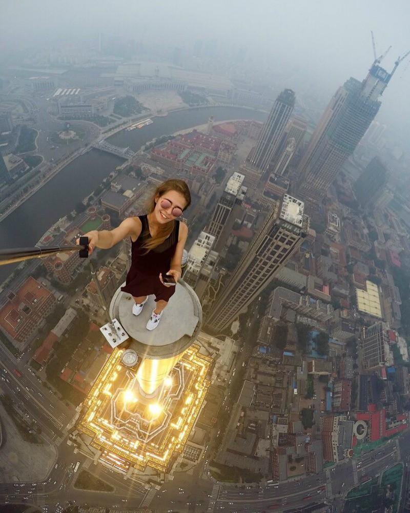 Outra selfie perigosa na china